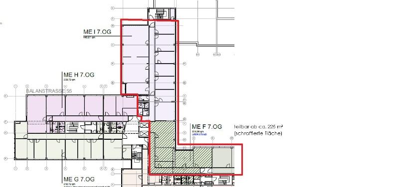 Grundriss 7 OG 671 m²