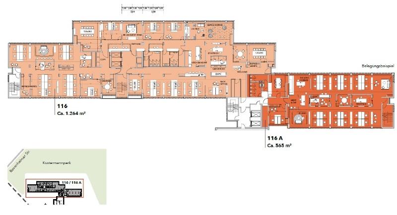 Belegungsplan Etage Beispiel