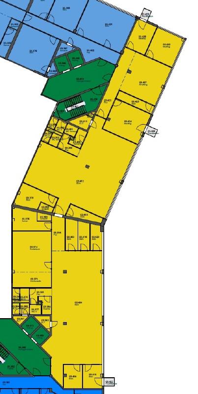 Grundriss 3 OG 14 _ 16  718 m²