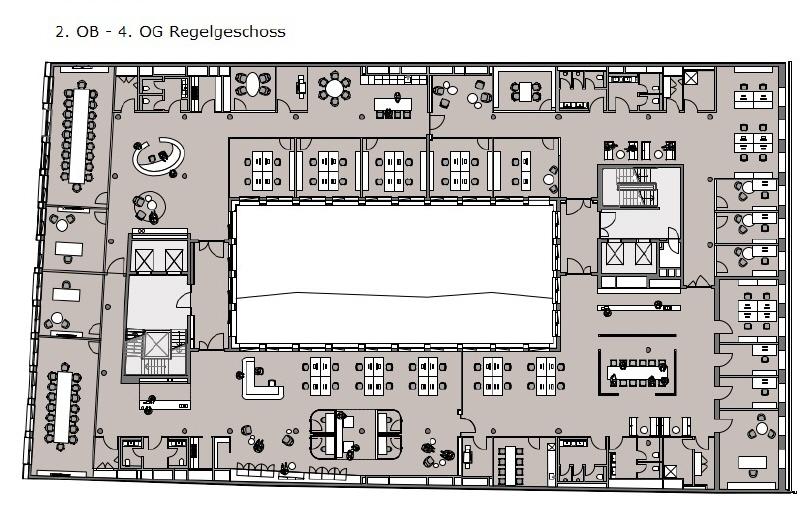 Grundriss 2 - 4 Regelgeschoss OG